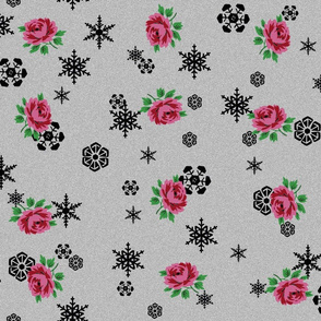 It's snowing roses