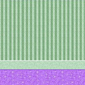 Green & Purple Kelp Stripe with Starfish & Periwinkle
