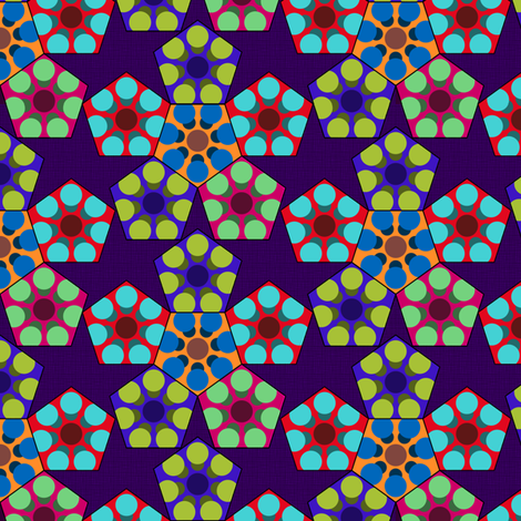 Droste's Pentagon fabric by kimberly_guccione on Spoonflower - custom fabric