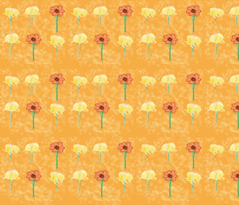 Fall_Flowers fabric by chovy on Spoonflower - custom fabric