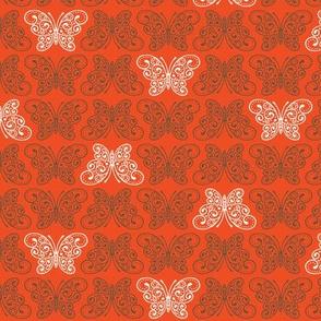 Moss Garden - Small Ordered Butterflies (Scarlet)