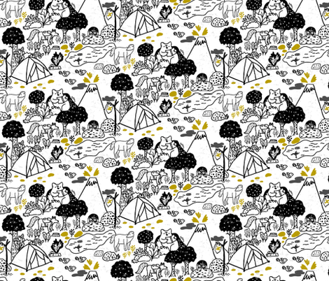 Explorers of the world fabric by elylu on Spoonflower - custom fabric