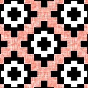 Coral weave West by Southwest (limited palette)  by Su_G