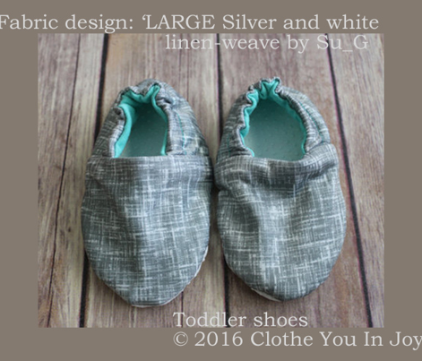 LARGE Silver + white linen-weave by Su_G_©SuSchaefer
