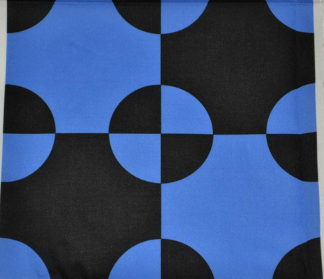 Black and Blue Steeplechase Quilt Block