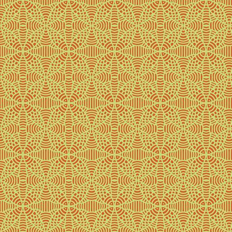 Muted Orange Yellow Fish Petals fabric by eve_catt_art on Spoonflower - custom fabric