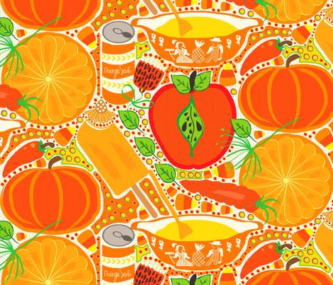 Orange Fiesta! fabric by orangefancy on Spoonflower - custom fabric