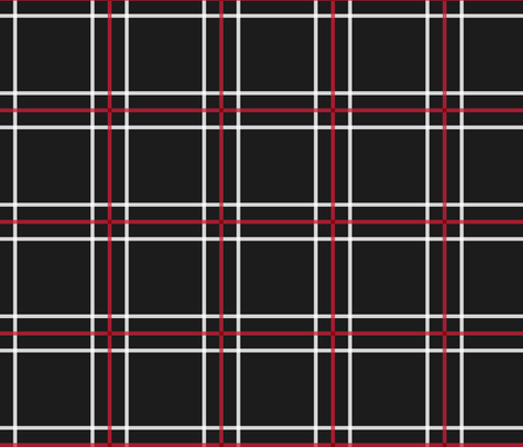 [Traditional Style] Persona 5 Shujin High School Uniform Plaid (Black/Red/White) fabric by atashi on Spoonflower - custom fabric