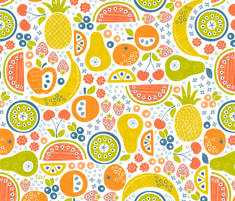 Ambrosia Fruit Salad fabric by studio_amelie on Spoonflower - custom fabric