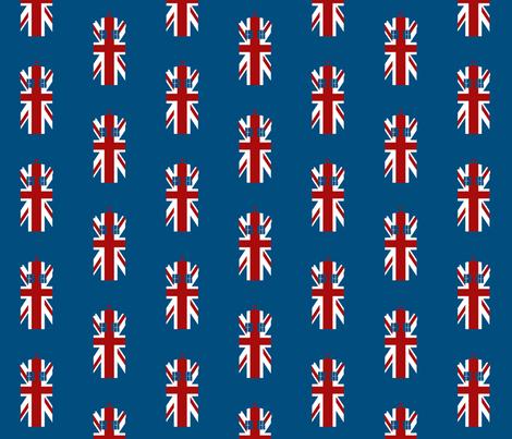 UK Phone Box fabric by designedbygeeks on Spoonflower - custom fabric