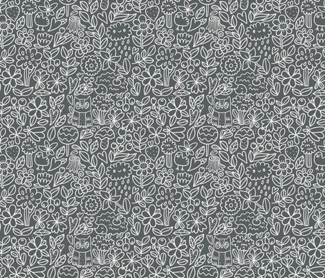 woodland pattern3 fabric by kostolom3000 on Spoonflower - custom fabric