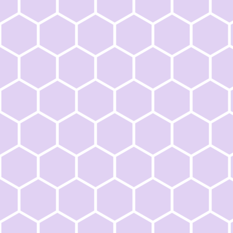 Honeycomb, Lilac fabric by thistleandfox on Spoonflower - custom fabric