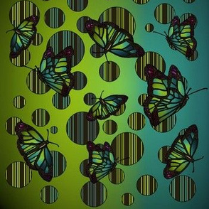 Polka Dot Art Nouveau Butterflies