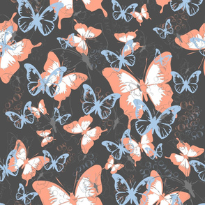 Butterflies dark backround