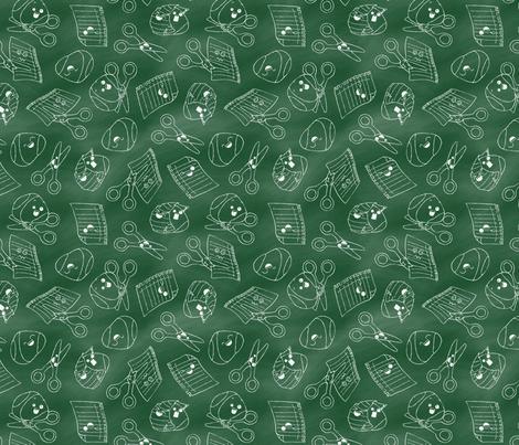 Rock Paper Scissors:Chalk fabric by mia_valdez on Spoonflower - custom fabric