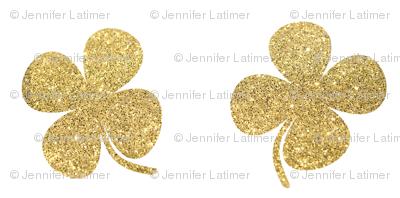 Four Leaf Clover Gold Glitter
