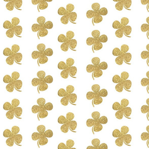 Four Leaf Clover Gold Glitter