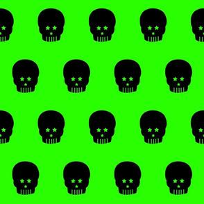 Skull star eye Black and Green