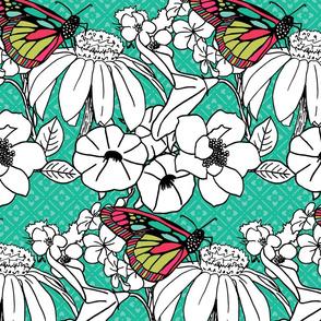 Butterfly Garden Large Print