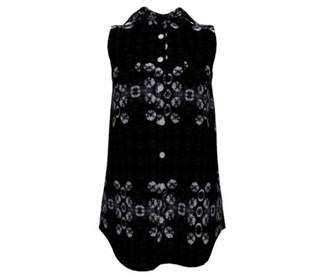 Black Shibori-style Tie-Dye design
