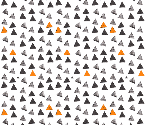 Ink Stamp Triangles fabric by mariden on Spoonflower - custom fabric