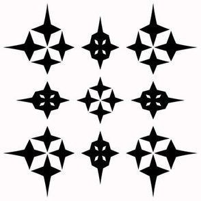 Black and White Star Geometric