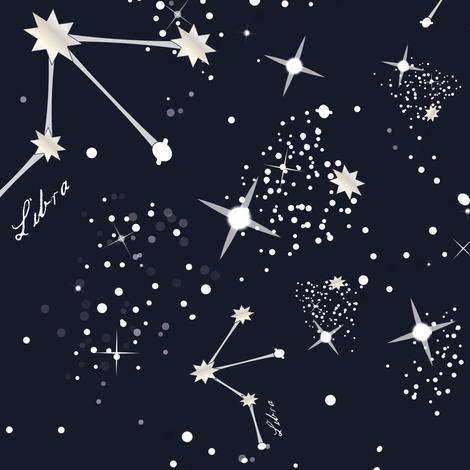 Zodiac Constellations - Libra fabric by elliottdesignfactory on Spoonflower - custom fabric