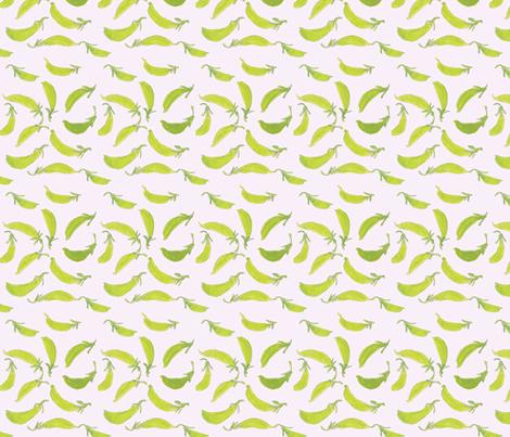 Sugar_Snap_Peas fabric by sleepingdogquilts on Spoonflower - custom fabric