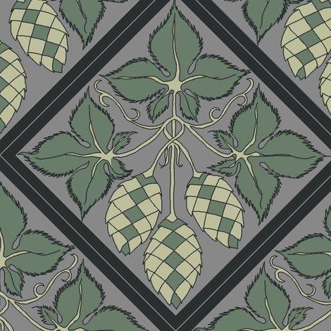 Rtile_repeat_45_deg_diamond_shape_grey_bg_dark_green_leaves_shop_preview