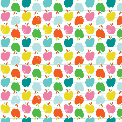 A is for Apple - Fruit White fabric by heatherdutton on Spoonflower - custom fabric