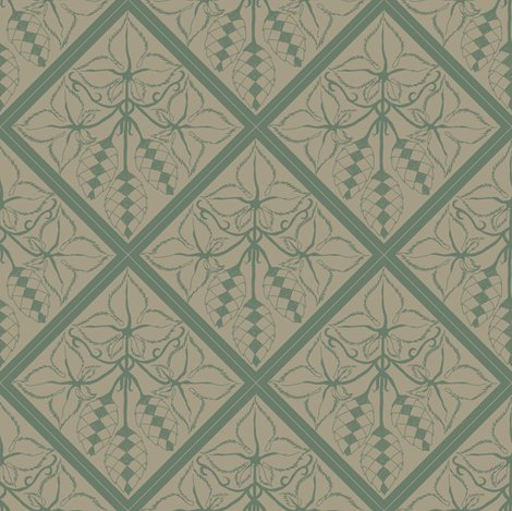 Rrtile_repeat_45_deg_diamond_shape_dark_green_outline_on_linen_bg__shop_preview