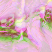Abstract Floral Net-Pink/Green-©Copyright