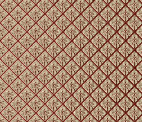 Formal red hops on a pale green BG fabric by a_bushel_of_hops on Spoonflower - custom fabric