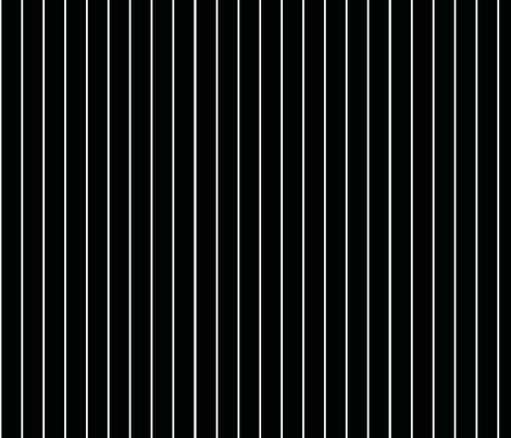 White Pinstripe on Black fabric by gingezel on Spoonflower - custom fabric