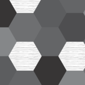 hexagon wholecloth // monochrome