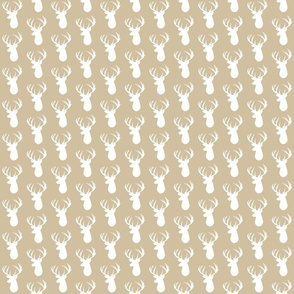 taupe deer head // small