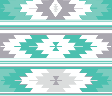 teals kilim fabric by ivieclothco on Spoonflower - custom fabric