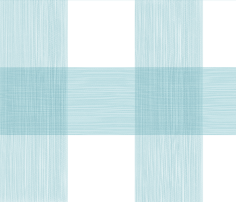 Large Buffalo Check in Aqua fabric by danikaherrick on Spoonflower - custom fabric