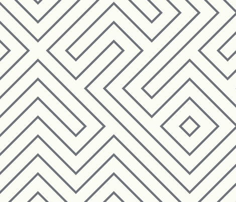 tribal_maze_cement_on_cream fabric by danikaherrick on Spoonflower - custom fabric