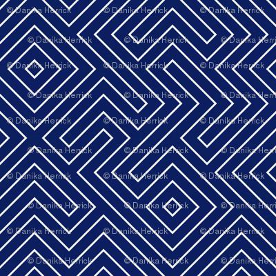 tribal_maze_cream on navy