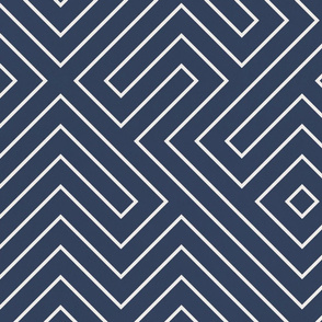tribal_maze_cream on navy