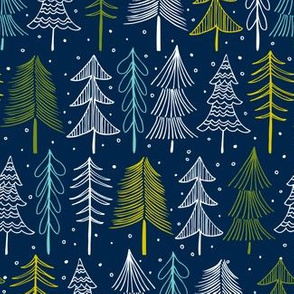 Oh' Christmas Tree - Navy Blue