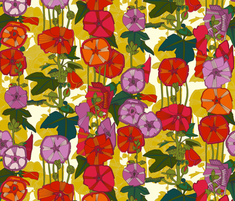 holly hocky fabric by scrummy on Spoonflower - custom fabric