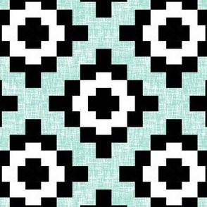 Mint weave West by Southwest (limited palette) by Su_G