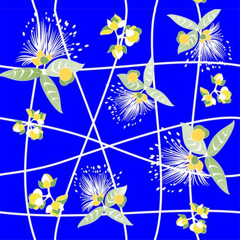 Barringtonia_blue fabric by malolo on Spoonflower - custom fabric