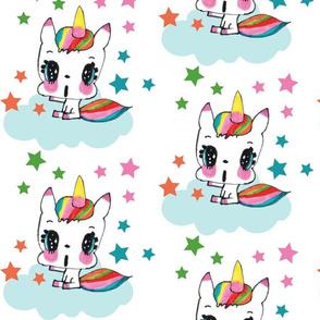 Rainbow Unicorn & Stars