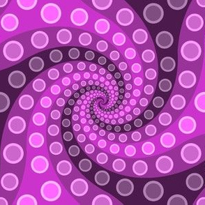 tentacle sucker spiral 3 : magenta purple
