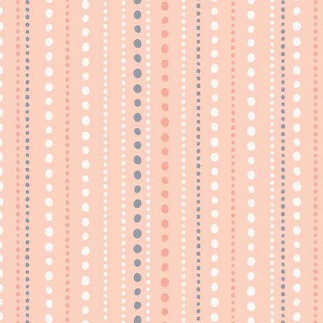 Spring Tea Garden Pink Dots fabric by zesti on Spoonflower - custom fabric