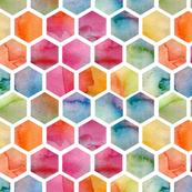 Watercolour Hexagons
