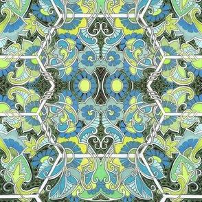 The Blue Green Paisley Hexagon Consortium